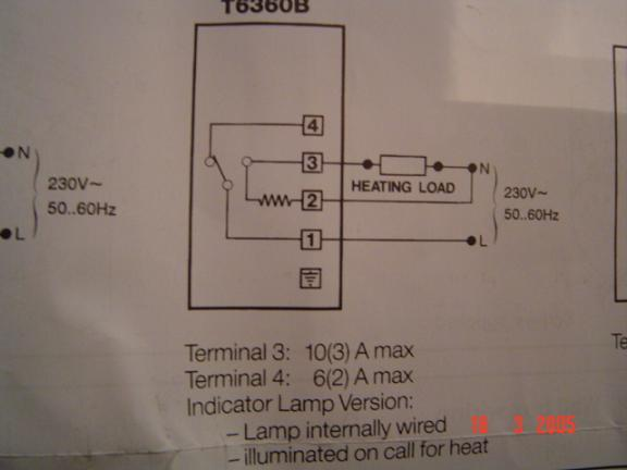 Thermostat D I Y Kit Uk420, Honeywell T6360 Room Thermostat Wiring Diagram