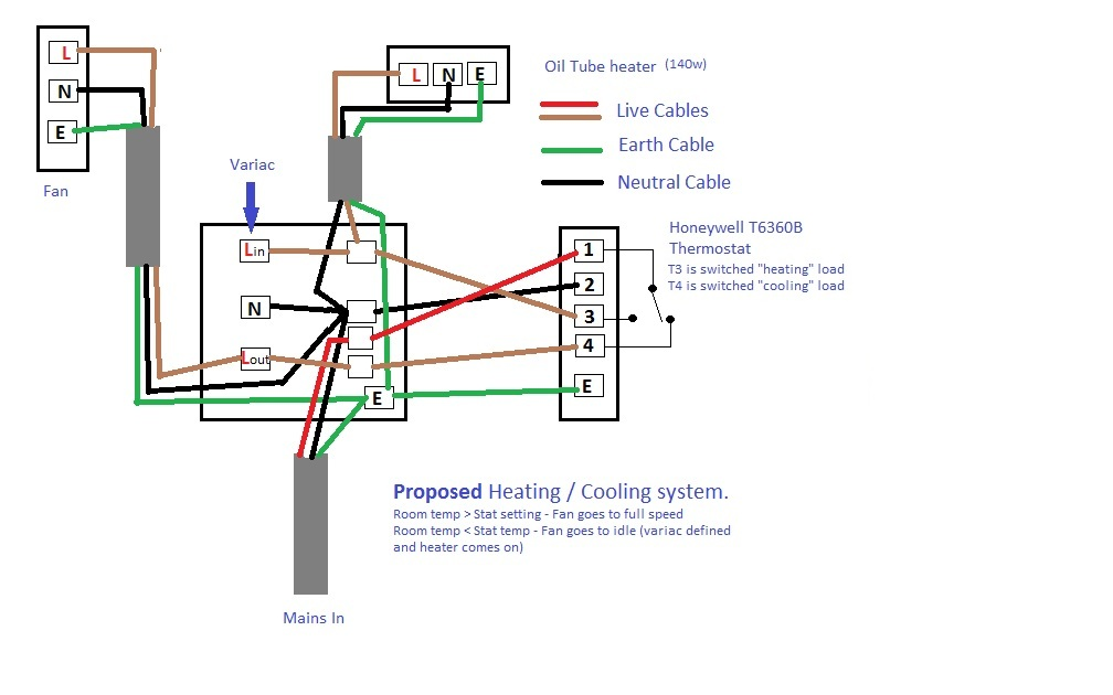 Honeywell Thermostat Wiring Diagram As Well As Variac Wiring Diagram ...