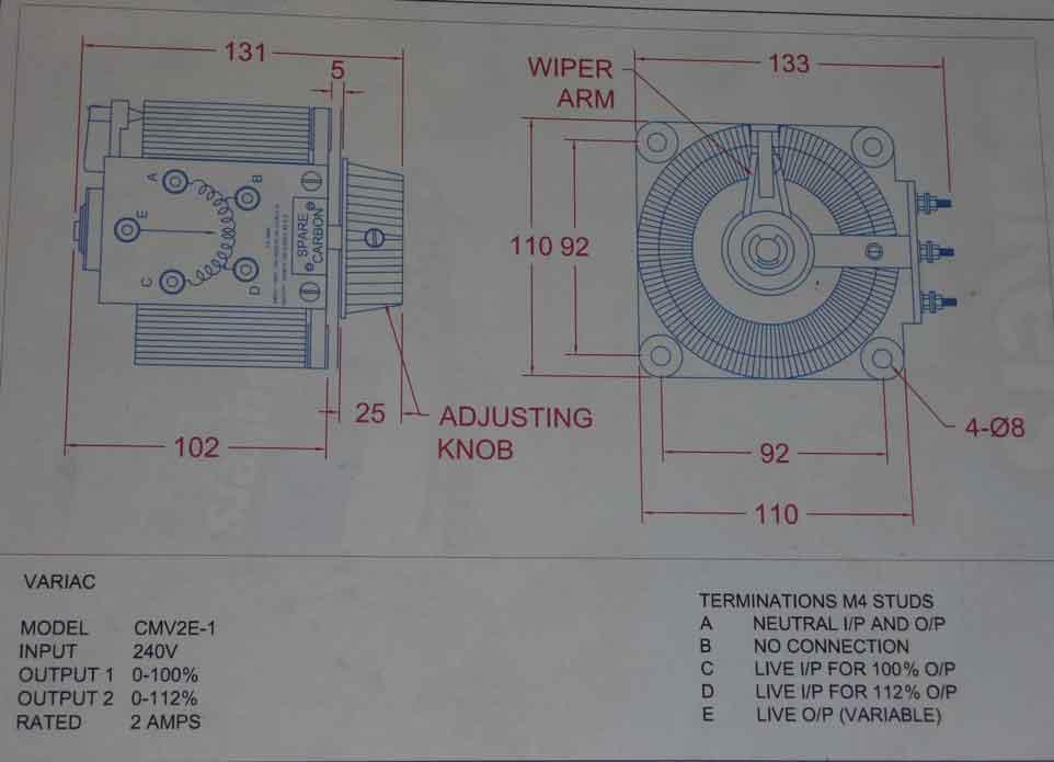 help wiring a single variac transformer d i y kit uk420