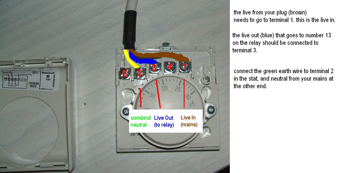 Wiring Diagram For Honeywell T40 Thermostat : Honeywell t room thermostat wiring diagram