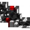 Delta 9 tetrahydrocannabinol from tosylate xtal 3D balls