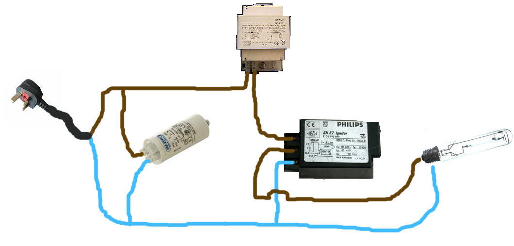 wiring diagram for metal halide ballast with photocell ewiring