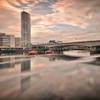Royal Mail Building From Across The River Lagan Belfast