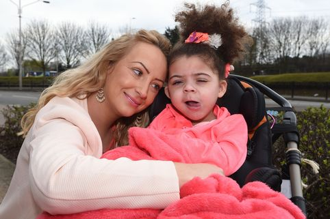Louise Bostock with her daughter Jayla