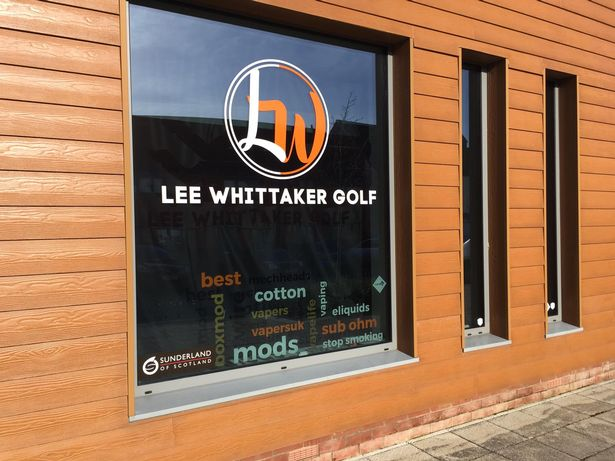 Lee Whittaker Golf has taken over the old Vaping is Personal store