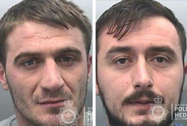 Albanians Paluca Pashko (left) and Bekim Selmani were caught running a Swansea Valley cannabis farm